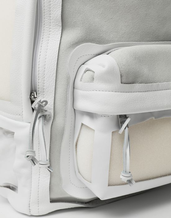 MAISON MARGIELA Décortiqué leather-PVC backpack Backpack [*** pickupInStoreShippingNotGuaranteed_info ***] d