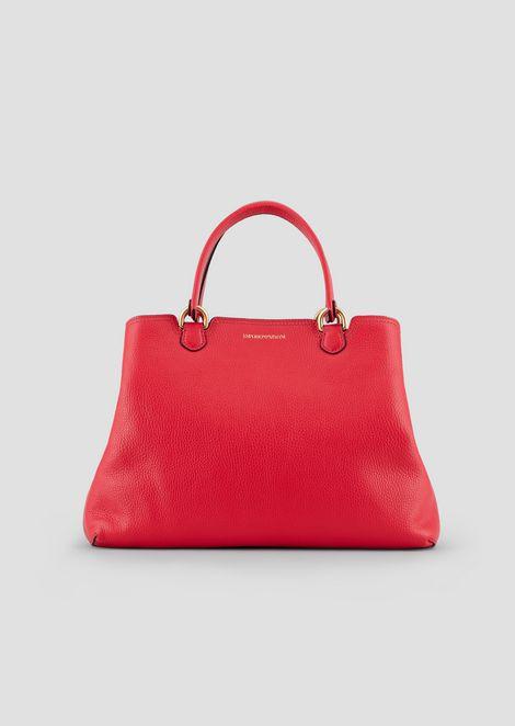 Shopper bag in deer-print leather