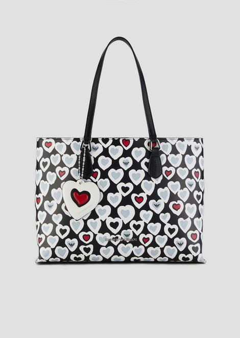 085f42bd78ca3 Shopping bag with heart print and internal clutch