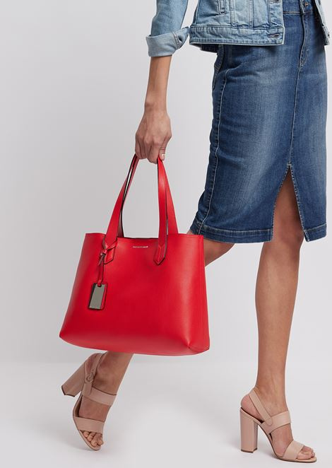 Shopper with internal pochette and Emporio Armani charm
