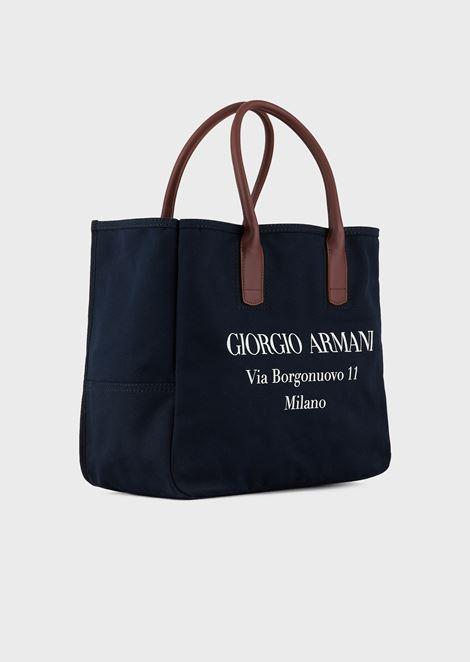 Canvas bag with Borgonuovo print