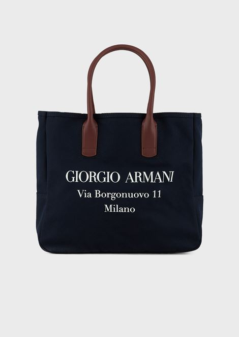 Canvas bag with Borgonuovo print