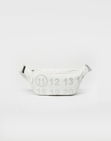 MAISON MARGIELA Fanny pack [*** pickupInStoreShipping_info ***] Logo-embellished leather bumbag f