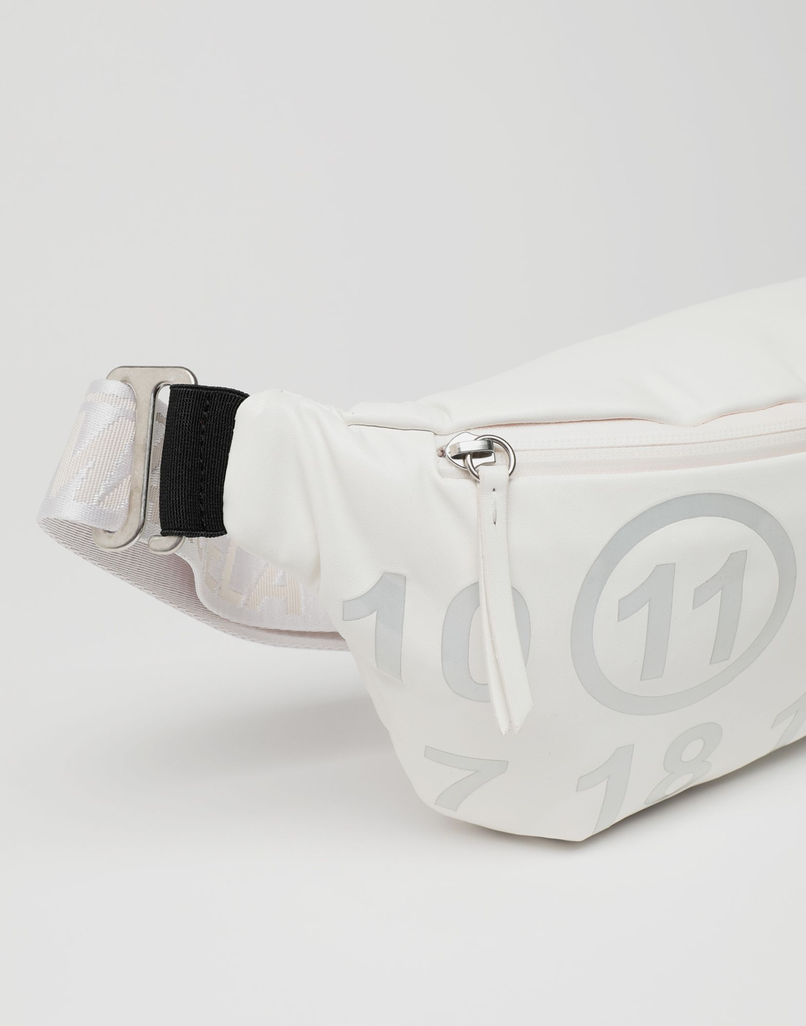 MAISON MARGIELA Logo-embellished leather bumbag Fanny pack Woman d