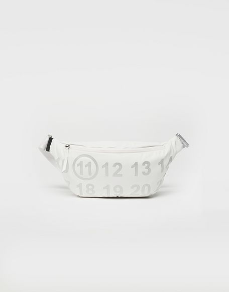 MAISON MARGIELA Logo-embellished leather bumbag Fanny pack Woman f