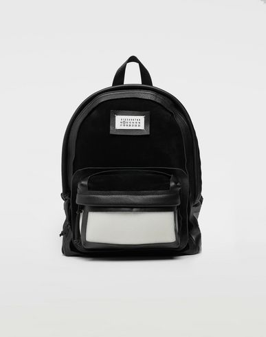 Décortiqué leather-PVC backpack