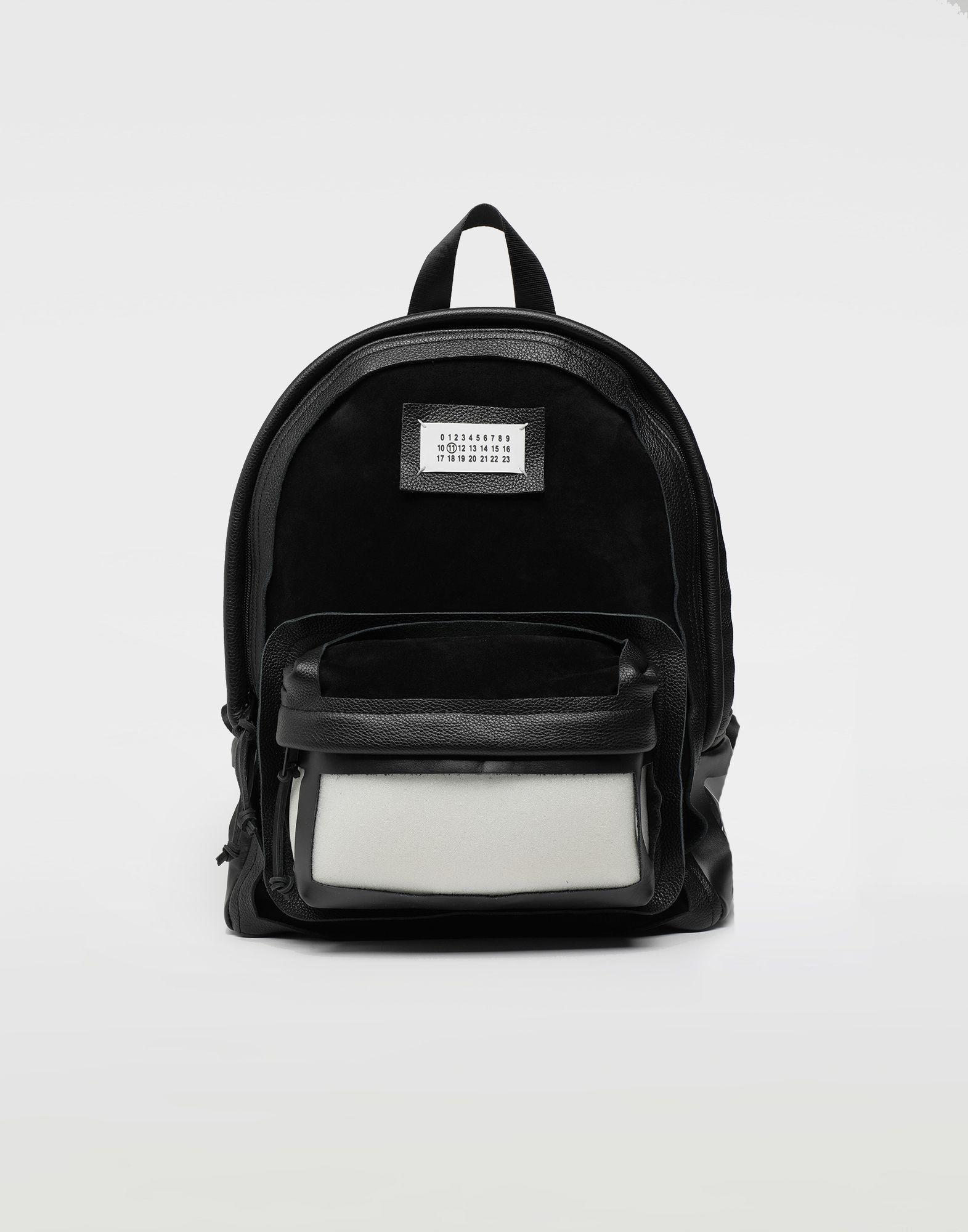 MAISON MARGIELA Décortiqué leather-PVC backpack Rucksack Man f