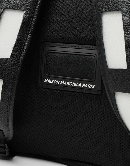 MAISON MARGIELA Décortiqué leather-PVC backpack Rucksack Man e