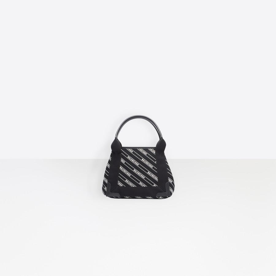6d289b2a4a BALENCIAGA Navy Cabas XS Stripe Logo Navy Handbag Woman f
