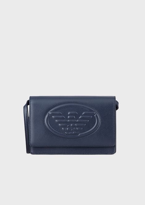 Mini shoulder bag with Emporio Armani maxi logo