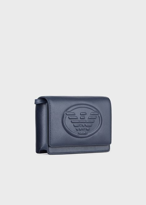 Mini cross-body bag with Emporio Armani maxi logo