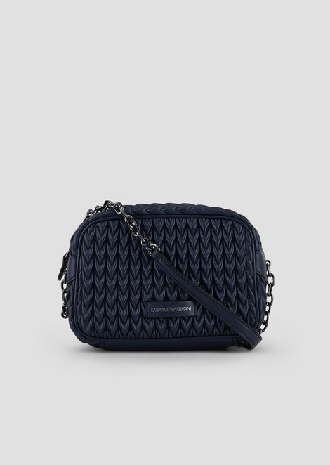 Mini-bag in quilted faux nappa leather with teardrop motif