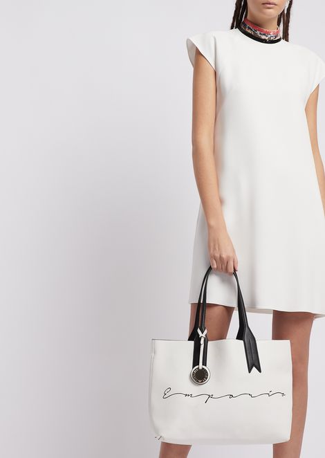 Shopping bag with Emporio Armani signature and logo charm