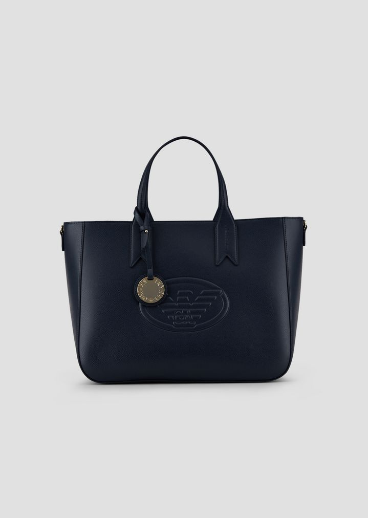 27ed5d92eb Garnet shopping bag with embossed logo and logoed charm
