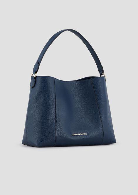 Hobo bag in deer-print leather with internal clutch
