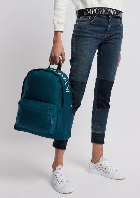 Рюкзак из технического нейлона скрупным логотипом сверху