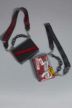 DSQUARED2 Red & Black Punk Crossbody Bag Shoulder bag Woman