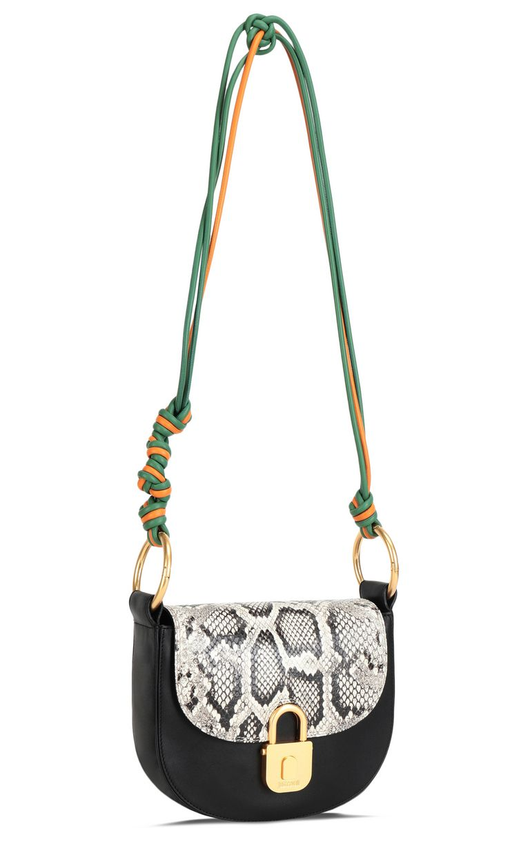JUST CAVALLI Python-print shoulder bag Crossbody Bag Woman r