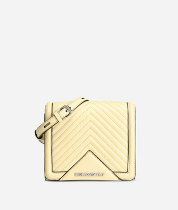 KARL LAGERFELD K/KLASSIK QUILTED LEATHER CROSSBODY BAG