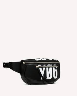 REDValentino BIKERED ENCRYPTED LOVE NOTES BELT BAG