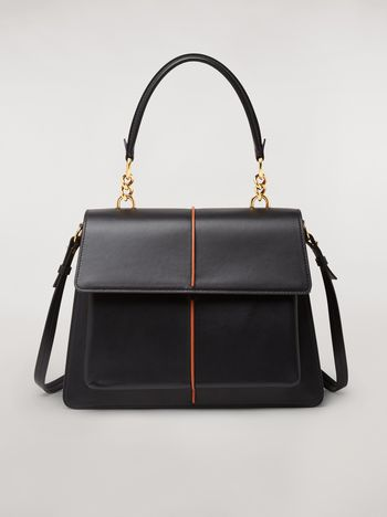 Marni  ATTACHE' bag in black calfskin Woman f