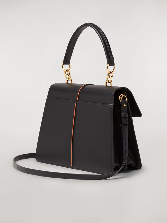 Marni  ATTACHE' bag in black calfskin Woman