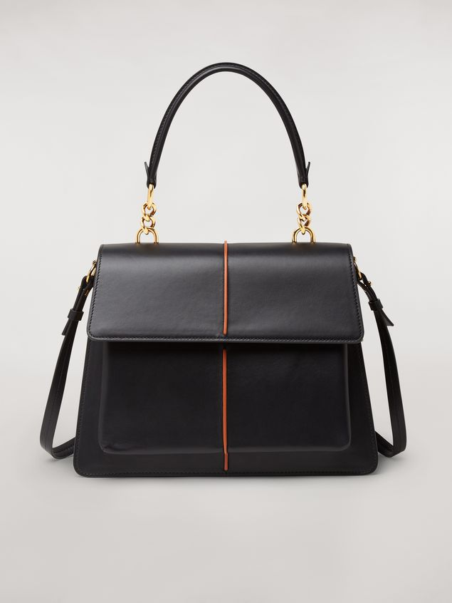 Marni  ATTACHE' bag in black calfskin Woman - 1