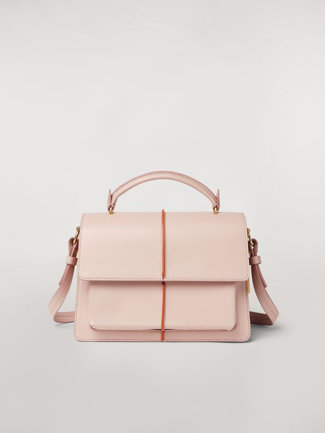 Marni ATTACHE' bag in pink calfskin Woman - 1