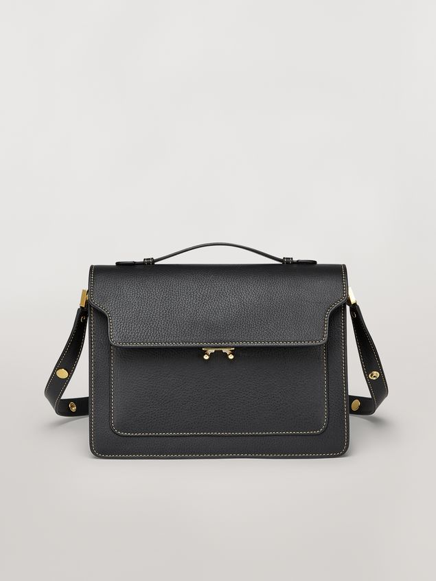 Marni TRUNK bag in mono-coloured grained calfskin with handle Woman - 1