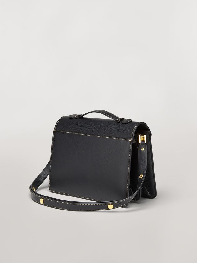 Marni TRUNK bag in mono-coloured grained calfskin with handle Woman - 3