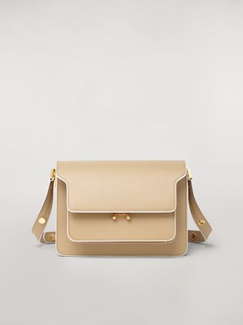 Marni TRUNK bag in mono-colored saffiano calfskin Woman