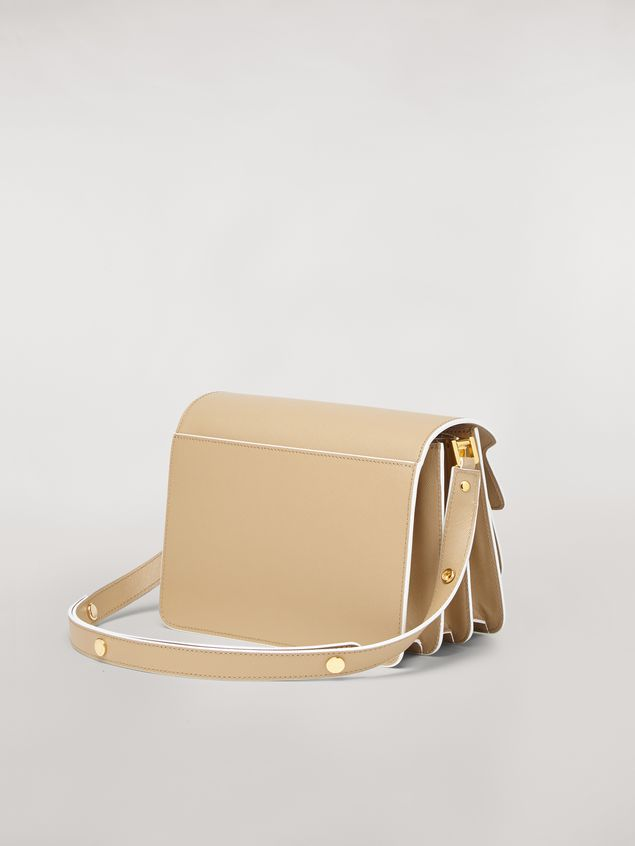 Marni TRUNK bag in mono-coloured saffiano calfskin Woman