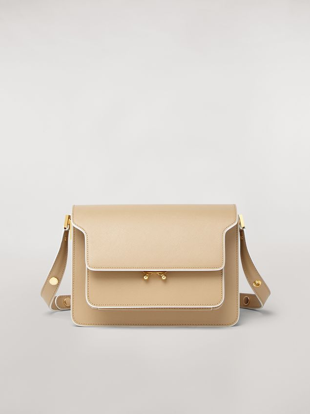 Marni TRUNK bag in mono-coloured saffiano calfskin Woman - 1