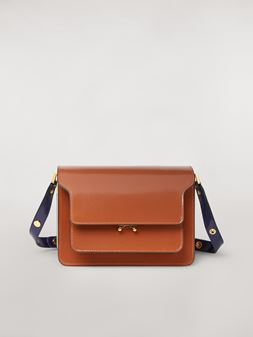 Marni TRUNK bag in three-tone shiny calfskin Woman