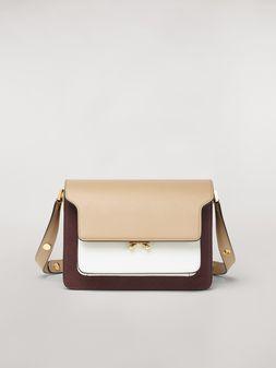 Marni Dreifarbige Tasche TRUNK aus Saffiano-Kalbsleder Damen