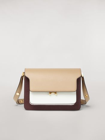 Marni TRUNK bag in three-tone saffiano calfskin Woman