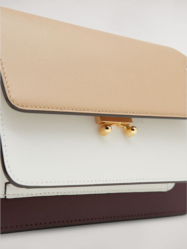 Marni TRUNK bag in three-tone saffiano calfskin Woman - 2