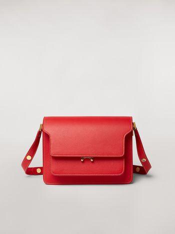 Marni Einfarbige Tasche TRUNK aus genarbtem Kalbsleder Damen