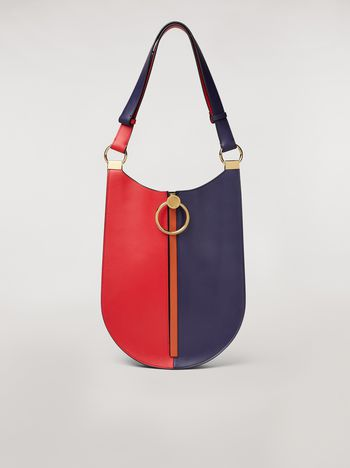 Marni EARRING bag in red and blue calfskin  Woman