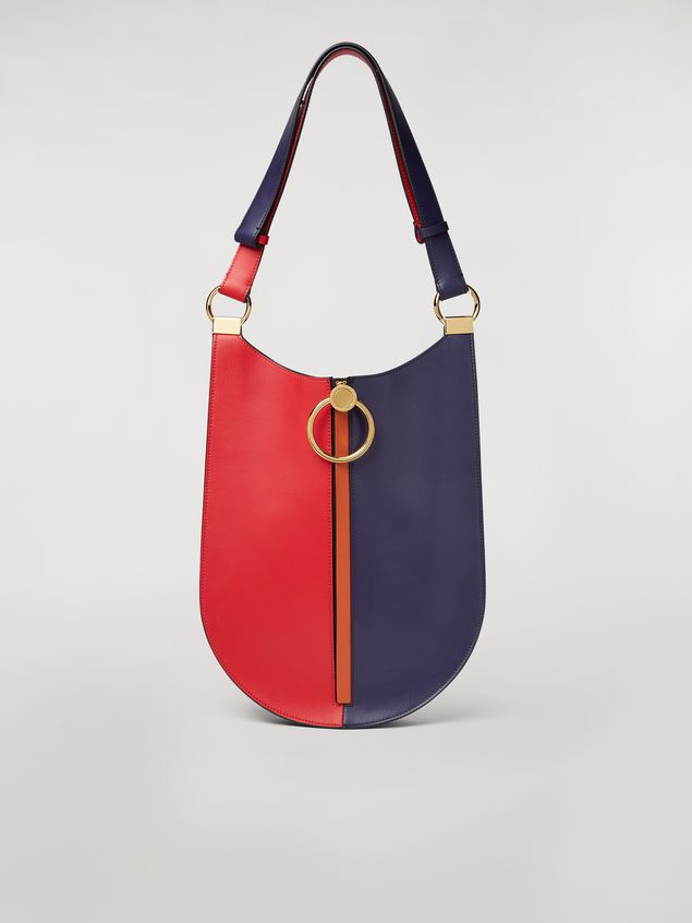 Marni EARRING bag in red and blue calfskin  Woman - 1
