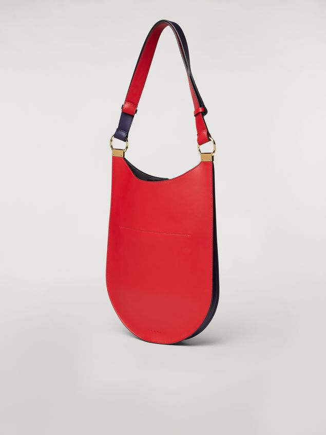 Marni EARRING bag in red and blue calfskin  Woman - 3