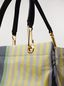 Marni GLOSSY GRIP shopper in yellow, green, gray, pink and turquoise striped polyamide Woman - 4