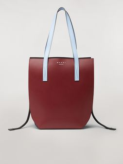 Marni GUSSET bag in brown and blue calfskin  Woman
