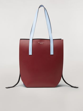 Marni GUSSET bag in brown and blue calfskin  Woman f