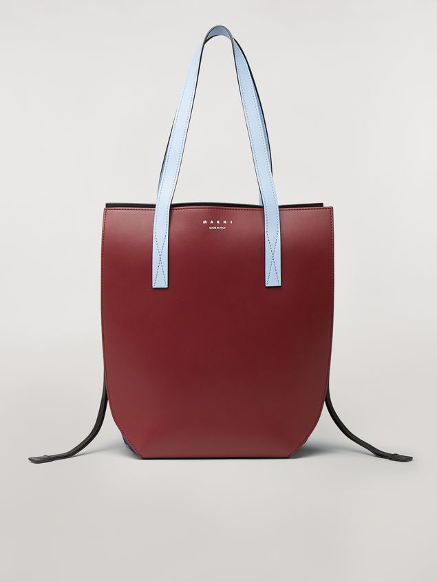 Marni GUSSET bag in brown and blue calfskin  Woman - 1