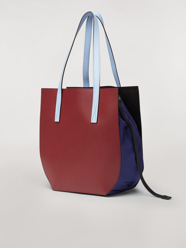 Marni GUSSET bag in brown and blue calfskin  Woman - 3