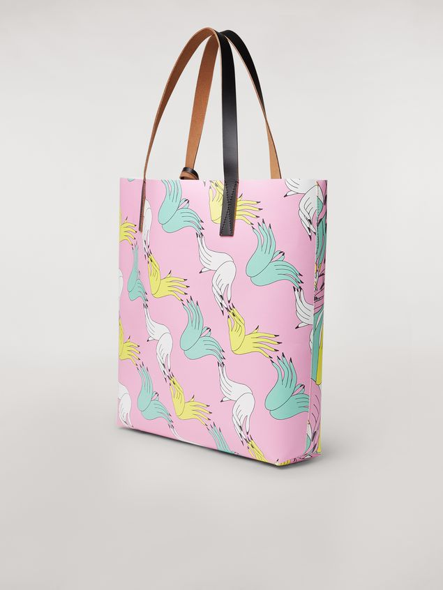 Marni SHOPPING bag in PVC print by the artist Bruno Bozzetto Woman