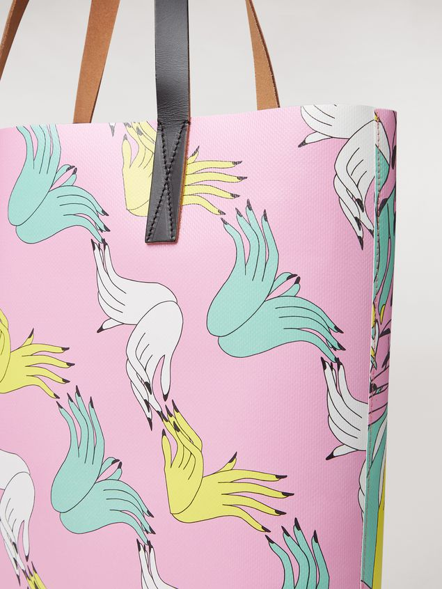 Marni SHOPPING bag in PVC print by the artist Bruno Bozzetto Woman - 4