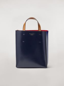 Marni MUSEO bag in calfskin blue Woman