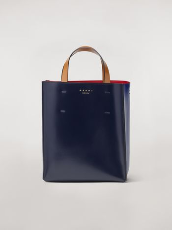 Marni MUSEO bag in calfskin blue Woman f